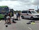 Tông trực diện xe khách, 2 người đi xe máy tử vong tại chỗ