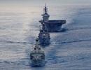 Tàu chiến Nhật Bản, Anh đi qua Biển Đông