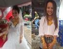 Xôn xao hình ảnh cô dâu Cần Thơ đeo 129 cây vàng trong ngày cưới