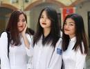 Nữ sinh trường cấp 3 Phan Đình Phùng rạng rỡ ngày khai giảng