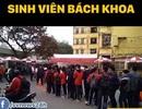 Hàng nghìn sinh viên Bách khoa Hà Nội xếp hàng nhận vé xem U23 Việt Nam - Qatar