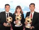 Thanh Trung, Kiều Trinh rạng rỡ trong ngày nhận Quả bóng vàng Việt Nam 2017