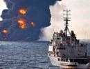 Tàu dầu Iran phát nổ và chìm xuống biển sau va chạm tàu Trung Quốc