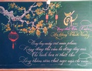 Thầy giáo trường làng thổi hồn Tết vào những tấm bảng