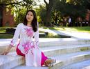 Nữ du học sinh Việt xinh đẹp diện áo dài đón Tết xa nhà đầu tiên ở Mỹ