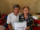 Bạn đọc giúp gia đình chị Vũ Thị Hòa hơn 63 triệu đồng