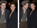Con trai David Beckham không rời mắt khỏi bạn gái hơn tuổi
