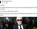 Sao Việt đồng loạt bày tỏ lòng tiếc thương ông hoàng thời trang Karl Lagerfeld