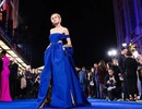 Brie Larson thanh lịch với váy xanh