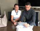 C.Ronaldo bất ngờ khoe thành tích đầu tư... làm tóc cùng bạn gái
