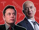 """Elon Musk """"đá đểu"""" ông chủ Amazon là """"kẻ sao chép"""""""