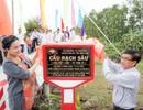 Khánh thành cây cầu dân sinh giúp người nghèo tại ấp Sơn Đông