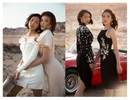 Hoa hậu Kỳ Duyên quấn quýt ôm eo, nắm chặt tay siêu mẫu Minh Triệu