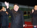 Ông Kim Jong-un được tặng bánh mì và muối khi đến Nga
