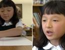 Bé gái cụt bàn tay chiến thắng cuộc thi viết chữ toàn quốc