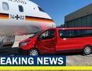 Chuyên cơ của Thủ tướng Đức Merkel va chạm với xe ô tô tại sân bay