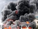 Hiện trường rực lửa vụ cháy kinh hoàng trong KCN Việt Hương