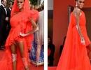 Winnie Harlow gặp sự cố trên thảm đỏ Cannes vì váy quá ngắn