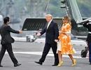Ông Trump trở thành tổng thống Mỹ đầu tiên thăm tàu chiến Nhật Bản