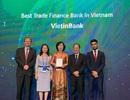 """VietinBank nhận giải thưởng """"Ngân hàng Tài trợ Thương mại tốt nhất Việt Nam"""" ba năm liên tiếp"""