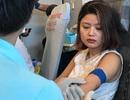 Dân công sở sành điệu... đi hiến máu tình nguyện