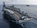Tàu sân bay Mỹ tập trận chung với tàu chiến Nhật Bản trên Biển Đông