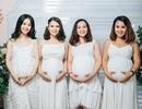 """4 chị em ruột cùng mang bầu rủ nhau chụp hình kỷ niệm gây """"bão"""" mạng"""