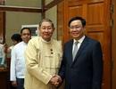 Phó Thủ tướng Vương Đình Huệ gặp Bộ trưởng Kế hoạch và Tài chính Myanmar
