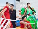 Thanh Hằng, Võ Hoàng Yến xuất hiện trên sàn diễn từ thuyền trên sông
