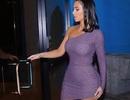 Kim Kardashian nổi bật khi diện váy ôm sát đi ăn tối