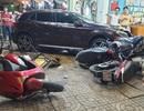 Ô tô tông 5 xe máy, 6 người bị thương
