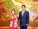Chủ tịch Quốc hội Nguyễn Thị Kim Ngân hội đàm với Chủ tịch Nhân đại Trung Quốc