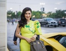 Nguyễn Hồng Nhung thanh lịch với váy vàng rực