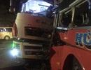 Xe khách đấu đầu xe tải, một người tử vong, 20 người bị thương
