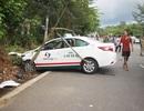 Taxi và xe máy va chạm mạnh, 2 bà cháu tử vong