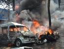 Cháy cơ sở kinh doanh lốp ô tô, khói bao trùm cả cụm công nghiệp