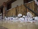 Bao tải cát quây kín nhà dân Đồ Sơn trước giờ bão số 3 đổ bộ