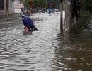 Sau bão, nhiều tuyến đường Thái Bình chìm trong nước