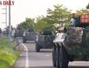 Xe thiết giáp Trung Quốc xuất hiện gần Hong Kong