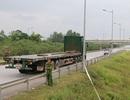 Hoàn tất thực nghiệm hiện trường vụ xe container đâm Innova đi lùi trên cao tốc