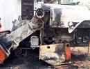 Máy gặt lúa nghi bị kẻ xấu đốt cháy trong đêm