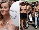 """Phụ nữ ngực trần diễu hành ở New York, đòi quyền được """"thả rông"""""""