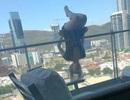 Liều lĩnh thể hiện động tác yoga ở mép ban công, cô gái rơi chúc đầu xuống từ tầng 6