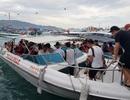 Ca nô du lịch tạm dừng đón khách đi Vịnh Nha Trang do bão số 5