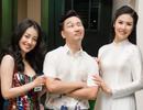 Hoa hậu Ngọc Hân hội ngộ MC Thành Trung, Quỳnh Chi khi về thăm trường cũ