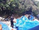 Phát hiện 20 lán trại và hơn 100 người khai thác vàng trái phép ở Bồng Miêu