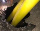 Xuất hiện hố sâu bất thường trên quốc lộ 1A