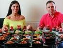 Cặp đôi giảm 95kg nhờ nấu 1 lần ăn cả tuần