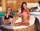 Tulisa đẹp bốc lửa với bikini hồng