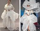 Bella Hadid diện váy lạ mắt, tỏa sáng trên sàn catwalk